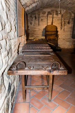 Stretching bench in the torture equipment exhibition in Toledo, Spain
