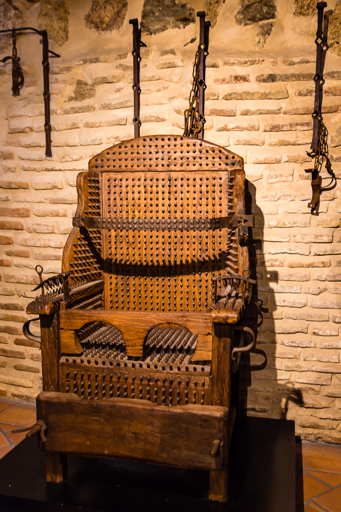 Chair With Spikes In The Torture Equipment Exhibition Toledo Spain