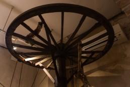 Torture wheel in the torture equipment exhibition in Toledo, Spain