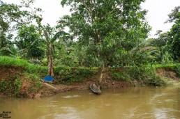 A traditional Rama canoe Reserva Biológica Indio Maíz, Nicaragua