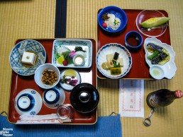 Vegetarian dinner in Ekoin temple, Koyasan, Japan