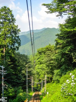 View from cable car to Mount Koya, Japan