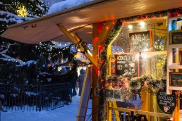 Warming drinks at the Christmas market of Tallinn Old Town, Estonia