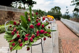 Withered roses at Genocide Memorial Center in Kigali, Rwanda