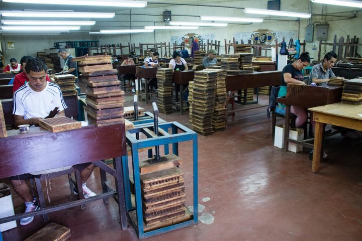 workers in cigar factory esteli nicaragua