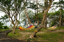 Some hammocks at Hotel Xalli in Isla Ometepe, Nicaragua