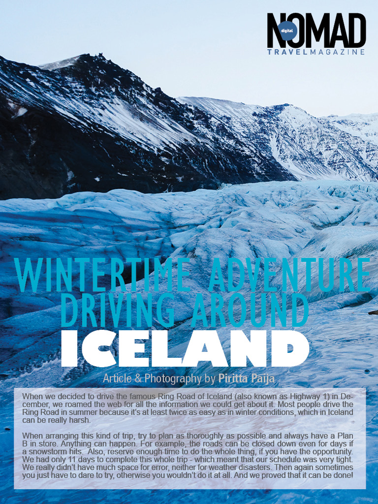 My Travel Article Is Published In Digital Nomad Travel Magazine Wintertime Adventure Driving