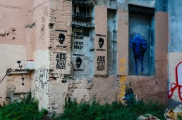 Are You Dead street art from El Carmen, Valencia
