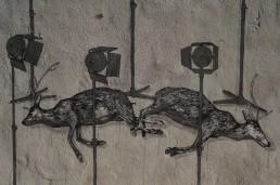 Deer themed street art from the artist called Hyuro, Valencia