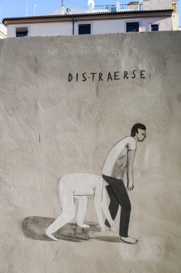 A mural from Escif called Distracted
