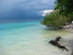 Stormy sky over Lombok, as seen from Gili Meno