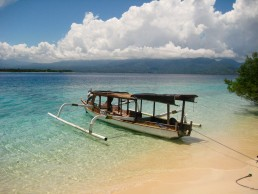 Paradise beach just in front of our hotel on Gili Meno Island