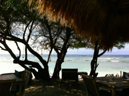 Gili Trawangan has nice terraces with gorgeous seaviews