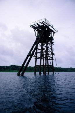 Rusty tower, Rio San Juan, San Juan de NIcaragua, old canal tower