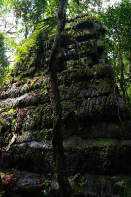 Columnar basalt pyramid in Canta Gallo, Indio Maiz