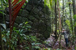 The mysterious stone pyramids of Canta Gallo in Indio Maiz, Nicaragua