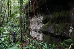 Basaltic Rama Indian pyramids of Canta Gallo, Indio Maíz, Nicaragua