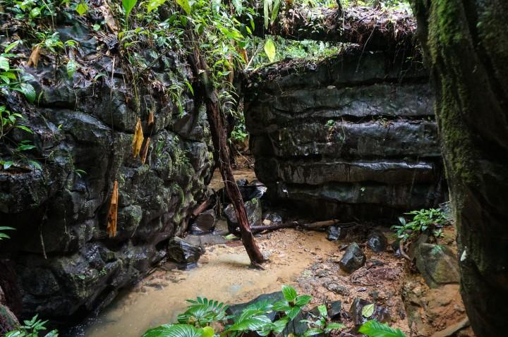 Stunning basalt structures in sacred Canta Gallo area, Indio Maiz