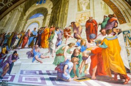 Raphael's famed the School of Athens, Vatican Palace