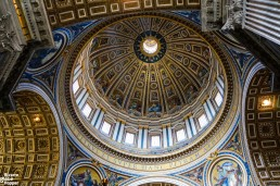 The massive dome of St Peter's Basilica was designed by Michelangelo himself