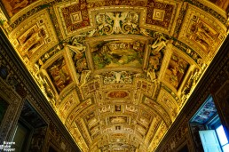 The art-filled roof of the Gallery of Maps inside the Vatican Museums