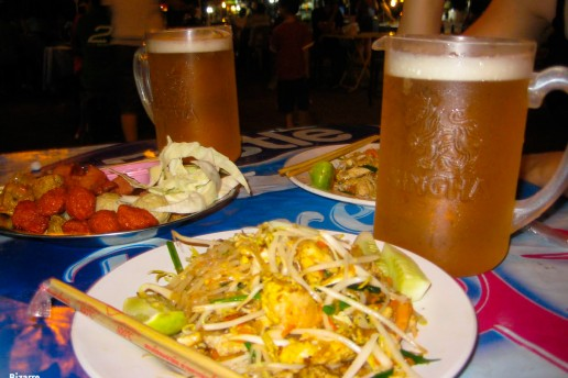 We ate the best pad thai of our lives at the night market of Nathon in Koh Samui, Thailand