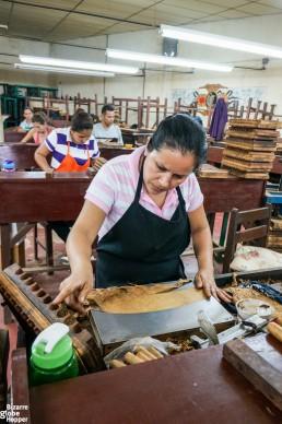 Visiting a cigar factory in Esteli, Nicaragua