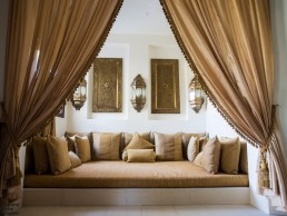 The huge Arab inspired day bed in our villa at Baraza Resort & Spa, Zanzibar