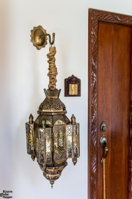 Locally crafted brass lanterns at Baraza Resort & Spa, Zanzibar
