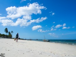 Walking at the Utende beach, Mafia Island, Tanzania