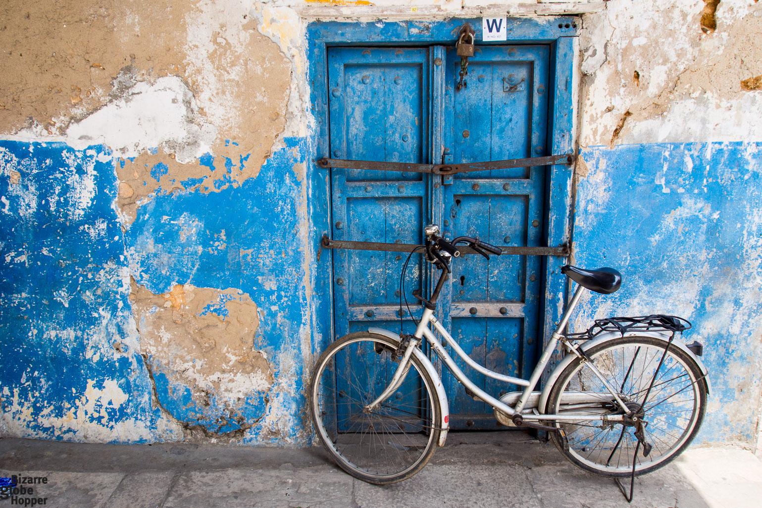 Blue Swahili door in Stone Town Zanzibar & The Doors of Stone Town Zanzibar \u2013 Bizarre Globe Hopper