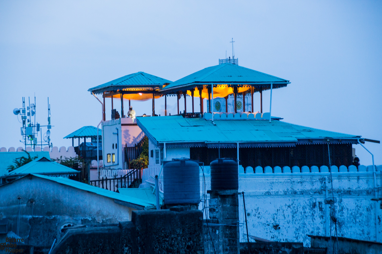 Sunset dinner upon the roofs of stone town zanzibar for City indian dining ltd t a spice trader