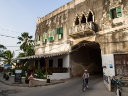 Entrance to Stone Town, the old town of Zanzibar