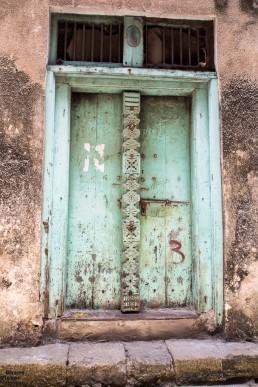 Turquoise Swahili Door, Stone Town, Zanzibar