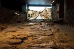Ancient Roman Street in Casa de la Fortuna Museum, Cartagena, Spain