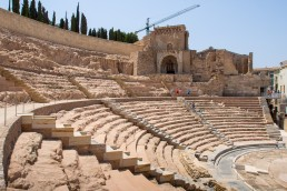 Ruins of the Roman Theatre in Cartagena, Spain