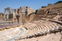 Reconstructed Roman Theatre in Cartagena, Spain
