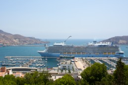 The port of Cartagena, Spain