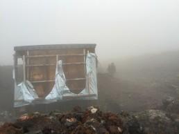Nyiragongo volcano summit cottages, Congo DR