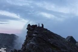 At the edge of the Nyiragongo volcano rim, Congo DR