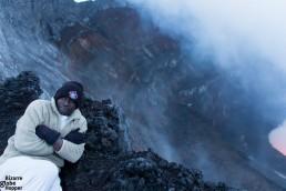 Our guide Tresor at Nyiragongo volcano rim, Congo DR