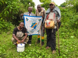 Our Nyiragongo trekking team from Kasitu Ecotours: Daniel, Tresor, the best off-the-grid cook ever and our loyal porter