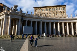 St. Peter's Square in Vatican with a view to Pope's apartment