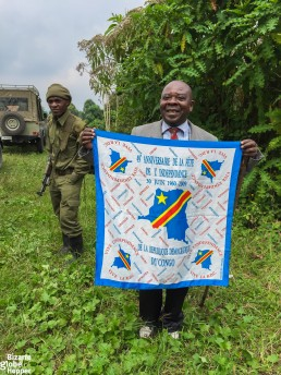 Our tour guide Daniel from Kasitu Ecotours in Virunga National Park, Congo DR