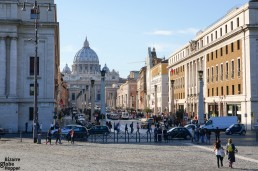 View to Vatican city from Castel St. Angelo