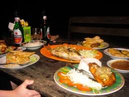 Yaya's Warung offers sumptuous beach dinners at Gili Meno, Indonesia