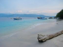 The main beach of Gili Trawangan just before sunset
