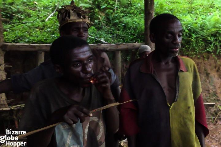 Batwa pygmies, Echuya Batwa, of Bwindi Impenetrable Forest, Uganda