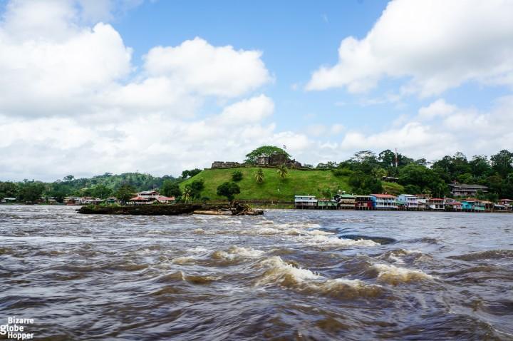 Small river town of El Castillo, Nicaragua