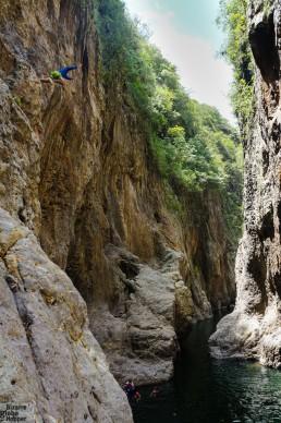 Jumping into Somoto Canyon, Nicaragua